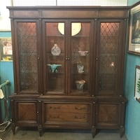 Mount Airy breakfront 2 pc lighted china cabinet Goodyear, 85395