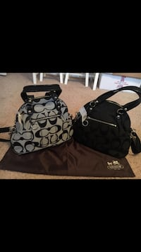 Two gray and black 2-way shoulder bags San Antonio, 78251