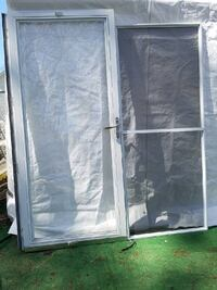 36x80 Aluminum full view glass screen door with screen and hardware(no key) Freeport, 11520
