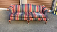 red, blue, and white striped fabric sofa Woodbridge, 22191