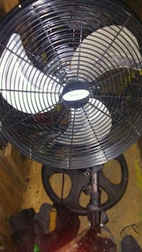 black and gray pedestal fan Edmonton, T6H 3B5