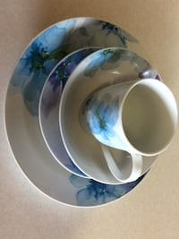 white and blue floral ceramic bowl Mississauga, L4W 2X9