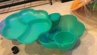 Tupperware chip n dip set  Teal plastic case Woodbridge, 22193