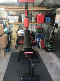 black and red Weider butterfly machine 1335 mi
