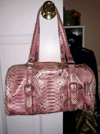 brown and white snakeskin leather tote bag McDonald, 37353