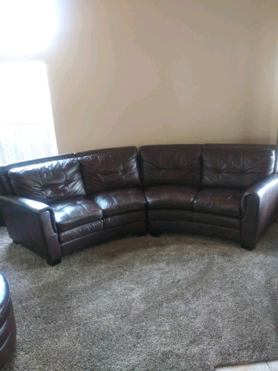 Dark Chocolate Leather Couch.