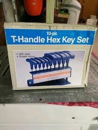 Blue Hex key Allen Set 11 Handles with stand. Elmira, N3B 2R5