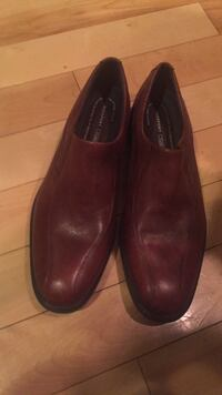 pair of brown leather slip-on shoes Peterborough, K9K 0A8