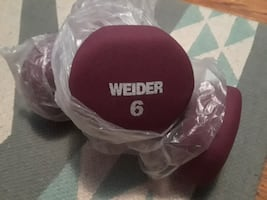 Pair of Weider 6lb weights-NEW