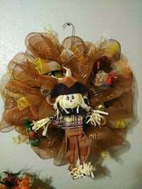 Scarecrow Thanksgiving Wreath Portland, 78374