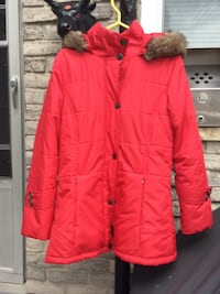 red zip-up bubble jacket London, N6P 1B6