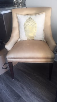 Vintage Gold Silk Chair Arlington