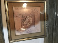 brown wooden framed painting of white flower Daly City, 94015
