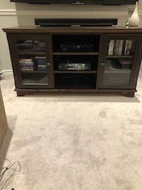 Black and brown wooden tv stand Mississauga, L5L 4W2