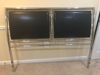 Black leather and stainless steel headboard Clinton, 20735