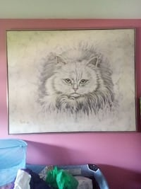 cat illustration with frame Brossard, J4Z 1M2