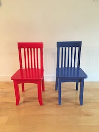 two red wooden windsor chairs Somerville, 02143