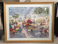Flower Mart Framed Painting  Gaithersburg, 20878