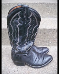 J Chisholm Cowboy Riding Rancher Western Men's Black Leather Boots 8.5 Brooklyn Park, 55428