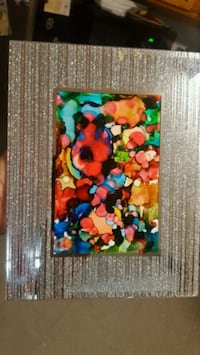 Art, Abstract mirror and glitter frame. Mix colors Hayward, 94541