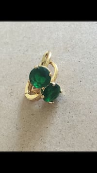 High quality gold plated emerald earrings Sayreville, 08872