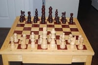 PRICE REDUCED - Wood Game table chess / checkers GAINESVILLE
