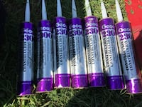 6 tubes of clear construction adhesive 152 mi