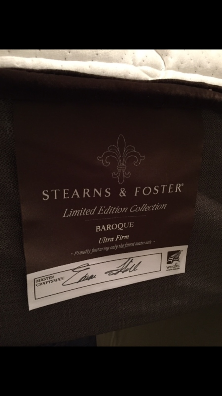 used stearns and foster limited edition collection baroque ultra