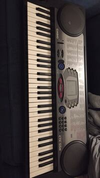 Gray and black electronic keyboard null