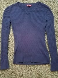 blue v-neck sweater Ravenna, 49451