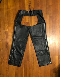 Vintage motorcycle pants XXL real leather paid $260. Excellent condition! Midtown Cycles New York City