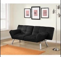 Contemporary Black Sofa Futon  Houston, 77080