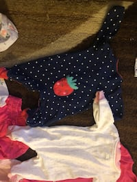 Baby's two assorted color onesies