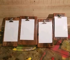 Four pictures wooden frame