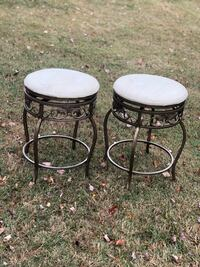 Metal Stools with upholstered seat Fulton, 20759