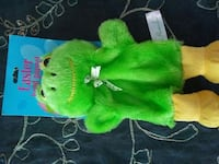 green and yellow Frog puppet