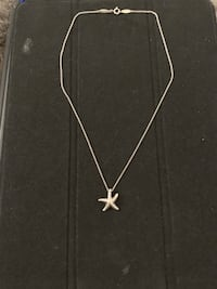Tiffany & CO Elsa Peretti Starfish Pendent Sterling Silver Necklace. Falls Church, 22042