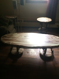Mid 70's marble table set Fort Erie, L0S