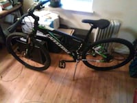 black and green Salcano hardtail mountain bike New Rochelle, 10801