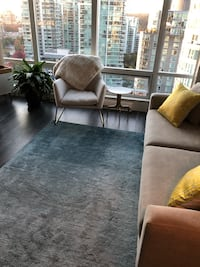 West Elm Ombre Shine Wool Rug - Blue Lagoon North Vancouver
