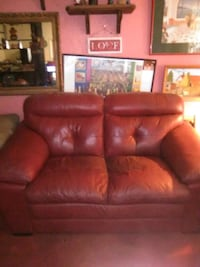 Real Leather Red Love Seat Chandler, 85224