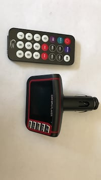 black and red car MP4 player with remote