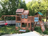 Wooden outdoor double sided playground  Vaughan, L4K 4Y6