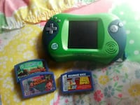 green leapfrog leapster2 with three game cartridges Petal, 39465