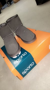 A pair of grey suede boots brand new from a smoke and pet free home! Vaughan, L4H 3L3