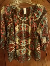 NWOT Rust Print Top Ocean Springs, 39564