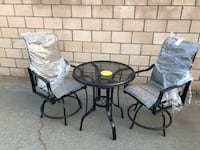 Outdoor patio swivel chairs set Cathedral City, 92234