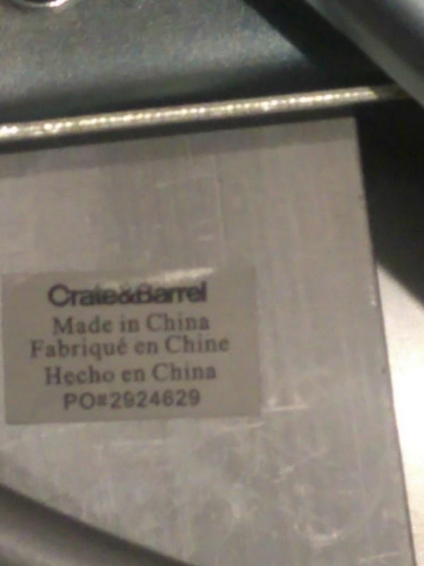 Two Crate and Barrel stools fc9bcc00-e85a-45c6-a81c-cd58fc047508