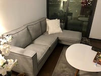 Grey sectional Sofa Toronto, M4P 1R4