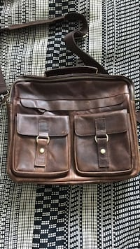 black leather 2-way bag 3476 km